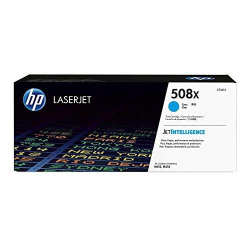 (HP 508X (CF361X) Cyan High Yield Toner Cartridge for HP Color LaserJet Enterprise M577 M553)