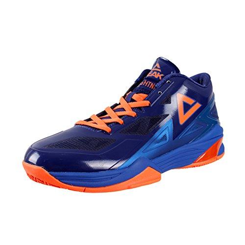 Picco Mens Giocatore Nba Esclusivo Scarpe Da Basket George Hill Fulmine Ii Dk.marine Blu / Arancio
