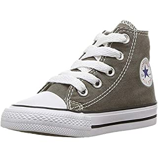 Converse Baby Chuck Taylor All Star Canvas High Top Sneaker, Charcoal, 16 M US