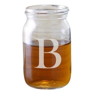 amazon com monogram mason jar shot glass 4 oz shot glasses