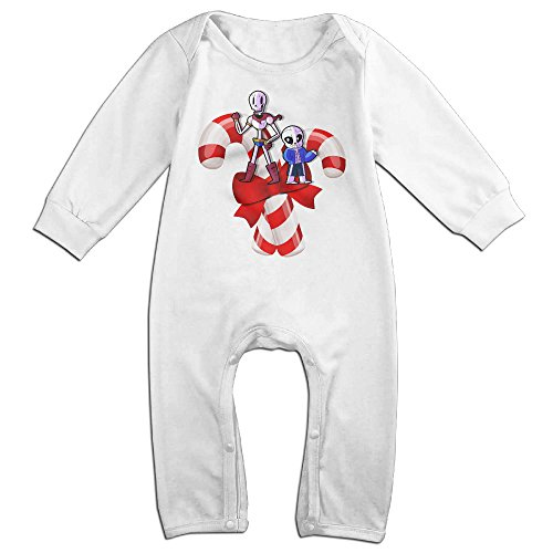 [VanillaBubble Undertale And Christmas Candy For 6-24 Months Baby Custom Romper White Size 6 M] (Wreck It Ralph Costume For Girls)