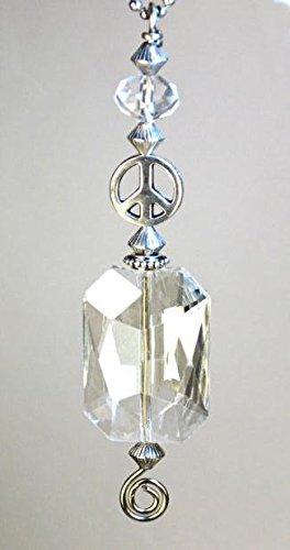 Rear View Mirror Car Accessory / Ornament Silvery Peace S...