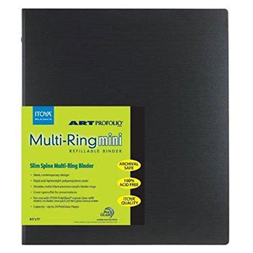 Itoya Art Profolio Multi-Ring Mini Refillable Binder - 8.5 x 11 (20 Sheets) + Itoya Art Portfolio Polyglass Refill Pages (Set of 10) 8.5'' x 11'' PR811 + Photo4Less Cleaning Cloth + Presentation Bundle by Photo4Less (Image #1)