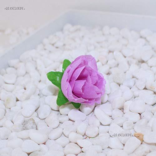 10 Pieces Artificial Fake Camellia Tea Rose Silk Flower Heads for Hair Clip Wedding Decoration C90 ()