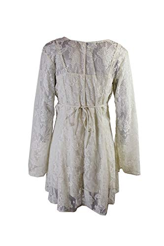 Rag American Lace Bell Mini Dress Sleeve Ivory M Sxqqd1