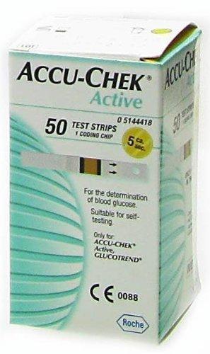 ACCU-CHEK GLUCOSE ACTIVE BANDELETTES - 50