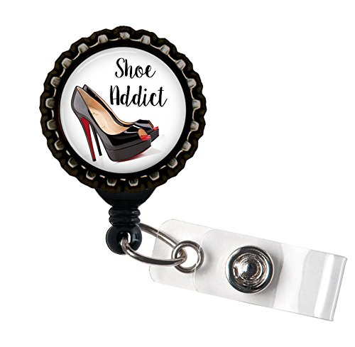 Shoe Addict Black Retractable ID Tag Badge Reel