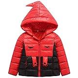 M&A Little Girls Cute Down Jacket Winter Hooded Puffer Coat