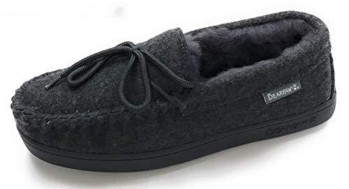 BEARPAW Moc II Slipper - Men's Gray Wool, 11.0 -