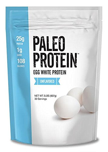 Paleo Thin® Protein Egg White Powder (2 LBS Total)(Soy Free)(30 Servings Total) (GMO Free) (Unflavored)