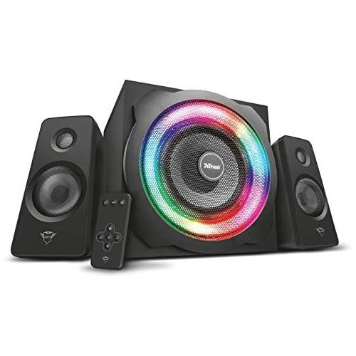 chollos oferta descuentos barato Trust Gaming GXT 629 Tytan Juego de altavoces gaming con iluminación RGB 2 1 color negro