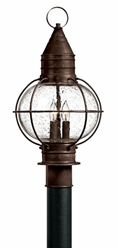 Hinkley 2207SZ Rustic Three Light Post Top from Cape Cod Collection in - Cape Patio Lantern Cod