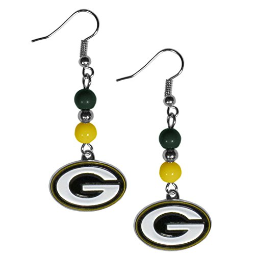 (NFL Green Bay Packers Fan Bead Dangle Earrings)