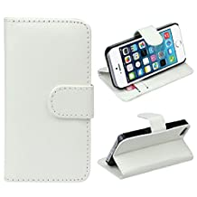 Changeshopping(TM)Retro Leather Wallet Flip Cover Case For Apple iPhone 5 5G 5S(White)
