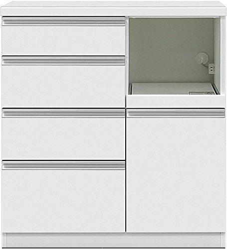 グラッセ キッチンカウンター 90H ホワイト【幅90×高さ98cm】 B01B7QV0FO 90H|ホワイト ホワイト 90H