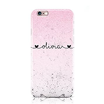 7698bb8a3 PERSONALISED FAUX GLITTER & MARBLE NAME MOBILE PHONE: Amazon.co.uk:  Electronics