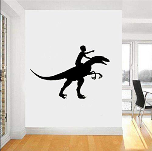 - wygajdie Dinosaur Knight Vinyl Applique Wall Sticker Kindergarten Interior Wall Graphic Bedroom Children's Room Children's Room Wall Art 56X82Cm