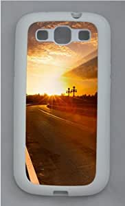 Sunset Road Custom Samsung Galaxy S3 Case Cover - TPU Silicone - White