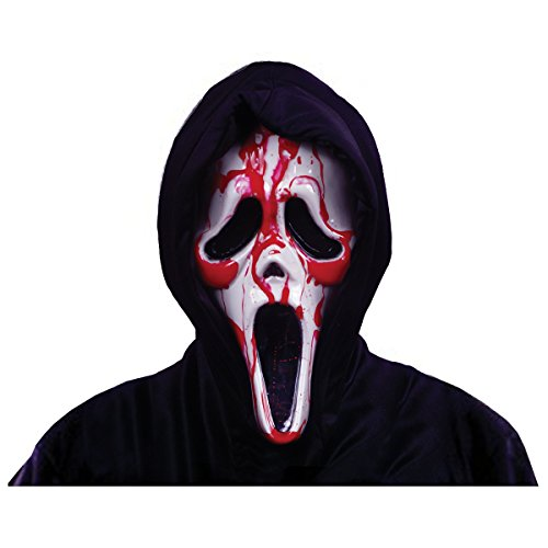 Ghost Face Bleeding Mask Costume Accessory