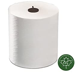 "Tork 290089 Advanced Matic Paper Hand Towel Roll, 1-Ply, 7.7"" Width x 900' Length, White (Case of 6 Rolls, 700 Feet per Roll, 4,200 Feet)"