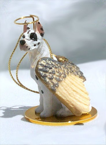 Great Dane Angel Dog Ornament - Harlequin ()