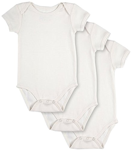 - Pact Baby 3-Pack Short Sleeve, White, 9-12 Months