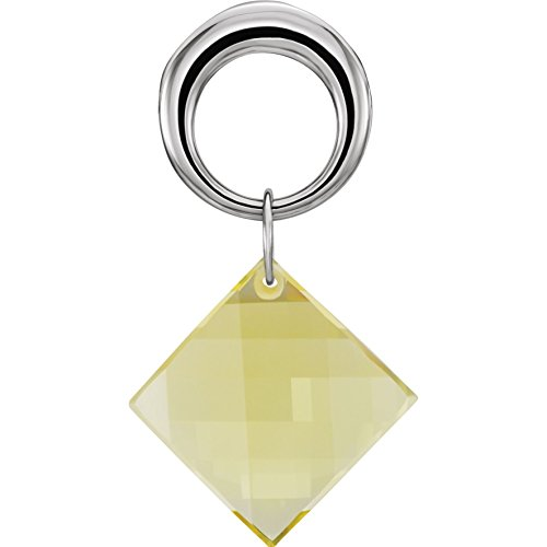 Bonyak Jewelry Lime Quartz Pendant in Sterling (Lime Quartz Pendant)