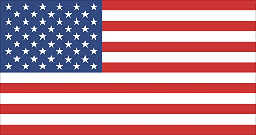 12x6 Large American USA Flag Car Truck Window Decal Sticker Patriotic Auto Bumper Sticker Vinyl For Car Truck RV SUV Boat Support US Military ()