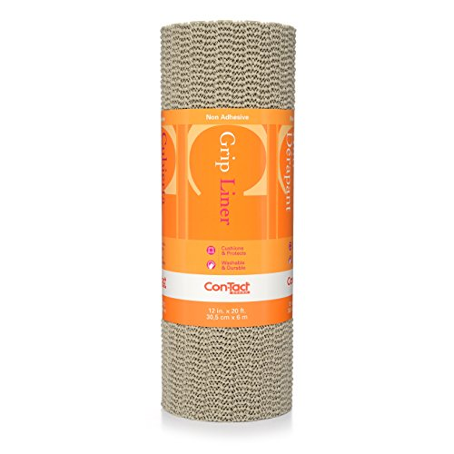 - Con-Tact Brand Grip, 20F-C6I59-12, Non-Adhesive Non-Slip Shelf Liner and Drawer Liner, Taupe, 12