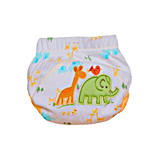 Infant Washable Diapers, Misaky Cloth Reusable Learning Training Bread Pants (Age:0-6Month, Green)