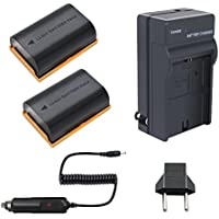 Bonadget 2 Pack 2600mAh Power Battery and Charger for Canon LP-E6 LP-E6N fit Canon EOS 70D 80D 60D 60Da, EOS 5D Mark II III IV, EOS 7D Mark II EOS 5DS 5DS R, EOS 6D