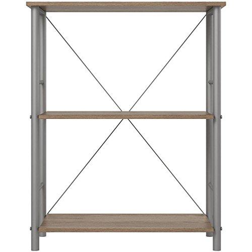 Mainstays 3-Shelf Bookcase, Rustic Oak Mdf Oak Bookcase