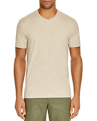 Bloomingdale's New Bloomingdales The Mens Store Oatmeal Brown Cotton V-Neck T-Shirt Size - Men Bloomingdale