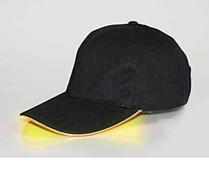 a6f72fb9cad8f Kocome Adjustable LED Lighted Sports Hats Glow Club Party Baseball Hip-Hop  Golf Cap (