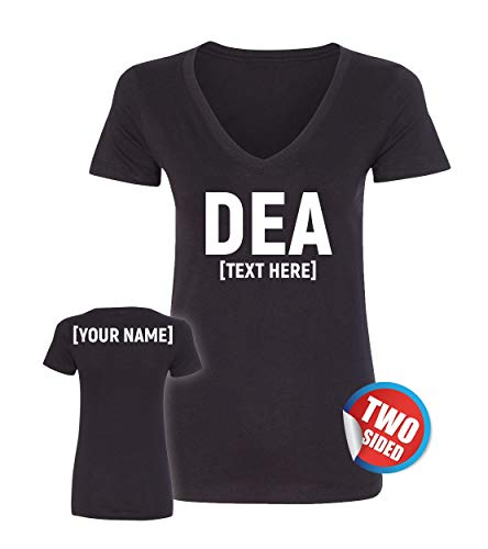 Patriotic Ville DEA Shirts for Women - Female Law Enforcement Officer Costumes - Lady DEA Agent Tshirts