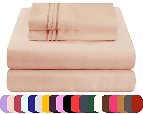 Mezzati Luxury Bed Sheets Set - Sale - Best, Softest, Coziest Sheets Ever! 1800 Prestige Collection Brushed Microfiber Bedding (Cappuccino, Cal King)