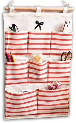 Red Wall Door Cloth Hanging Case Pocket Home Organizer Baanuse Storage Bags