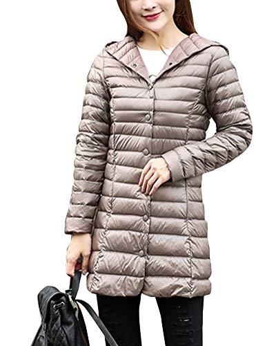 Women avec d'hiver manteau Vestes longue capuche Slim chaud Ultralight Camel Suncaya veste dxBIfqZRwd