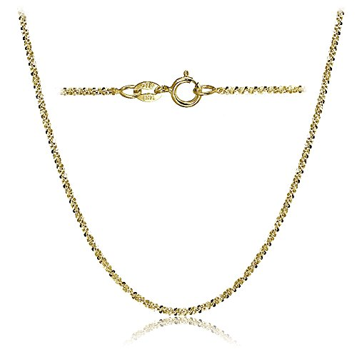 Bria Lou 14k Yellow Gold 1.3mm Italian Rock Rope Chain Necklace, 18 Inches by Bria Lou