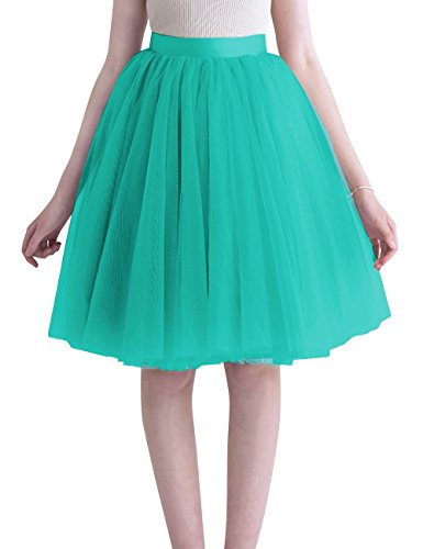Dasior Women's Big and Tall Wedding Chuch Party Tulle Ski...