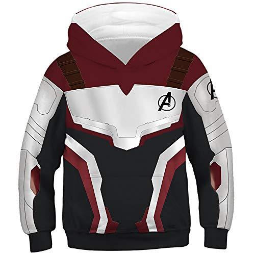 (TAKUSHI HF Teen Boys Girls Fashion 3D Printed Galaxy Long Sleeve Pullover Hoodies Hooded Sweatshirts with Pocket 6-13Y (Avengers Metal, M(8-11 Years)))