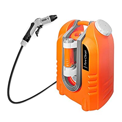 Pure Clean PCRWASHBAT29 portable spray washer W/ Flash Light - Power bank - Carrying Wheels