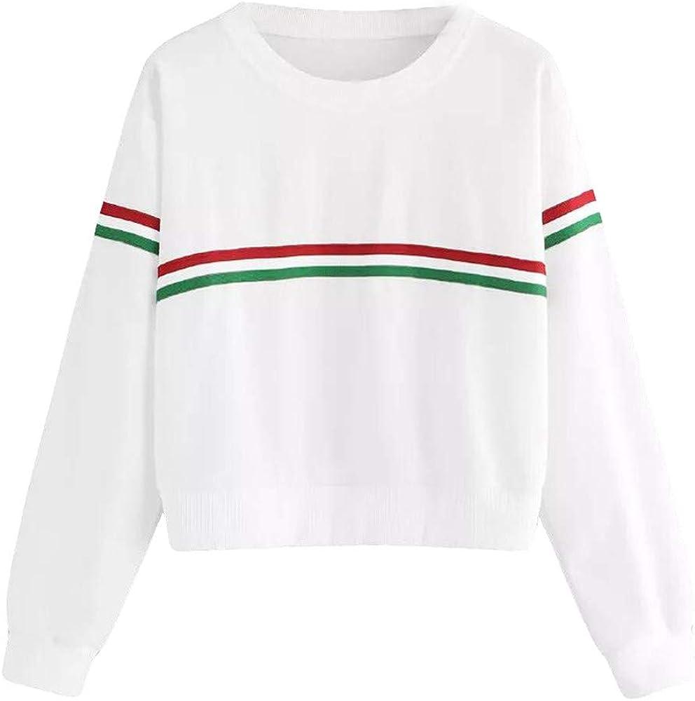 DEELIN Moda Simple OtoñO De Las Mujeres De Cuello Rojo Y Verde De ...