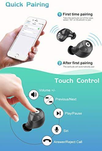 Bluetooth Earbuds True Wireless Earbuds 2019 Newest Version Bluetooth 50 IPX7 Waterproof 3D Stereo
