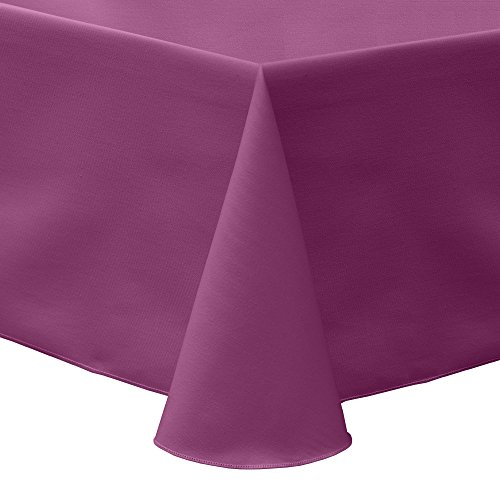 Ultimate Textile Poly-Cotton Twill 60 x 120-Inch Oval Tablecloth Plumberry