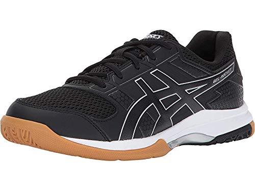 - ASICS Womens Gel-Rocket 8 Volleyball Shoe, Black/White, 9 Medium US