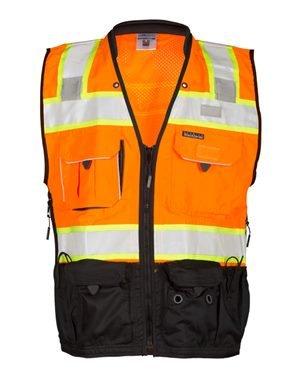 ML Kishigo Premium Black Series Surveyors Vest L Orange