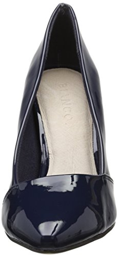 Loafer BIANCO Tacco Pump Navy Blu Punta Blue 48562 24 Basic Scarpe Donna Chiusa col 551gq6r