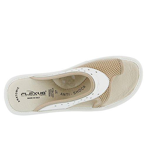 Flexus Womens Pascalle Sp3 Sandalo Slide Bianco