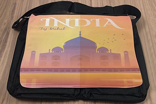 Borsa Tracolla Viaggio Mondo India Taj Mahal Stampato
